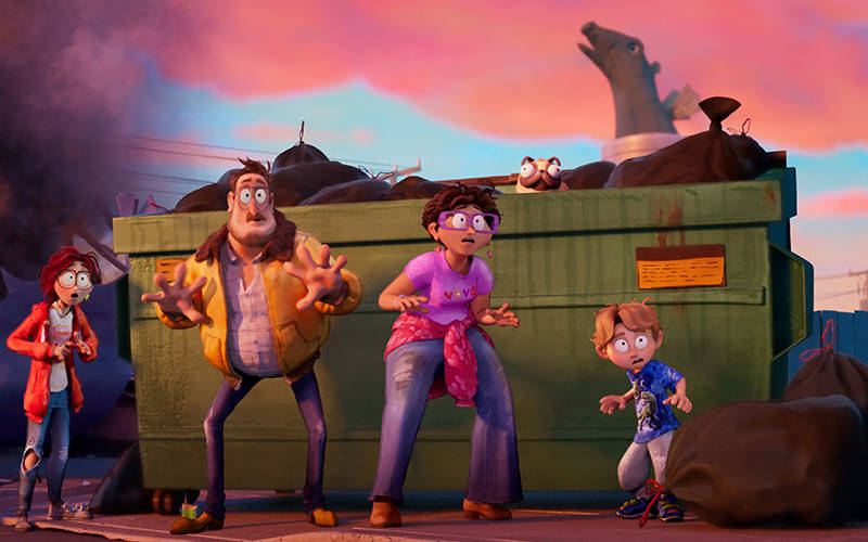 <p>This is a scene from the animated movie &ldquo;The Mitchells vs. The Machines.&rdquo; The Catholic News Service classification is A-II &mdash; adults and adolescents. The Motion Picture Association rating is PG &mdash; parental guidance suggested. Some material may not be suitable for children. (CNS photo by Netflix)  </p>