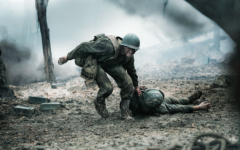 "Andrew Garfield stars in a scene from the movie ""Hacksaw Ridge."""