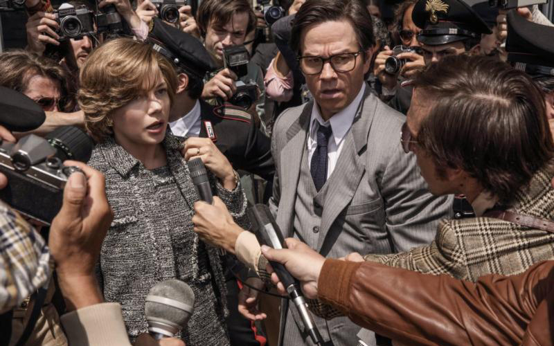 "Michelle Williams and Mark Wahlberg star in a scene from the movie ""All the Money in the World."" (CNS photo by SONY)"