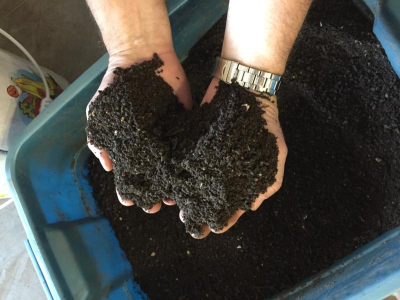 Compost is seen on the campus of the University of Dayton in Ohio. Pope Francis' encyclical on the environment has prompted some U.S. Catholic universities to undertake green projects. (CNS photo courtesy University of Dayton)
