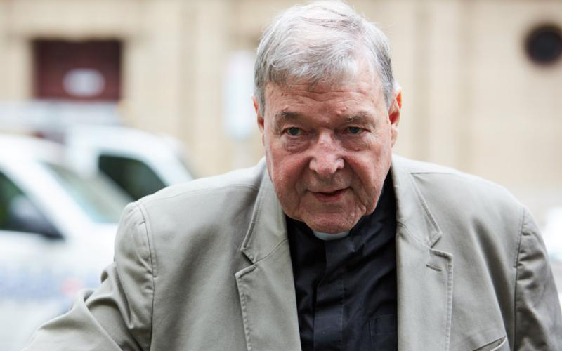Australian Cardinal George Pell arrives at the County Court in Melbourne Feb. 26, 2019. (CNS photo/Erik Anderson, AAP images via Reuters)