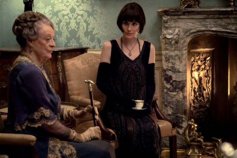"Dame Maggie Smith and Michelle Dockery star in a scene from the movie ""Downton Abbey."" (CNS photo by Focus Features)"
