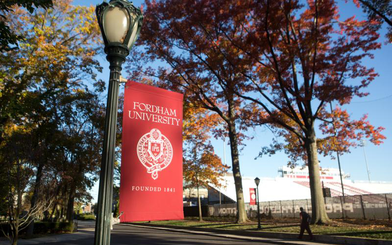 Amid coronavirus concerns, Fordham University in New York announced March 9, 2020, that it was suspending public classes on all of its New York-area campuses and would continue these courses online March 11.