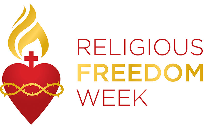 This is the logo for Religious Freedom Week. The observance begins June 22 this year.