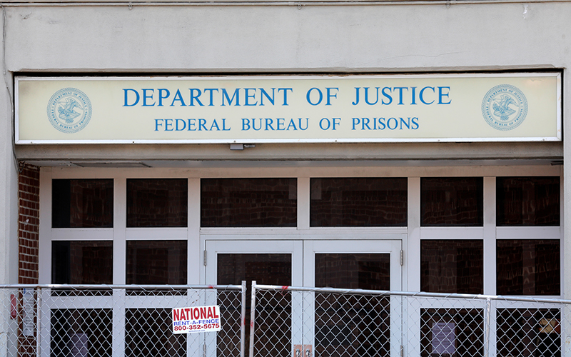 A Federal Bureau of Prisons building is pictured in the Brooklyn borough of New York City July 6, 2020.