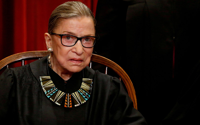 U.S. Supreme Court Justice Ruth Bader Ginsburg is seen in this 2017 file photo.