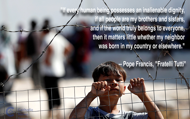"""This is a quote from Pope Francis' new encyclical, """"Fratelli Tutti, on Fraternity and Social Friendship."""""""