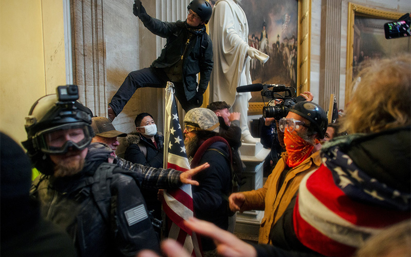 President Donald Trump supporters breach the U.S. Capitol in Washington Jan. 6, 2021, during a rally to contest the certification of the 2020 presidential election.