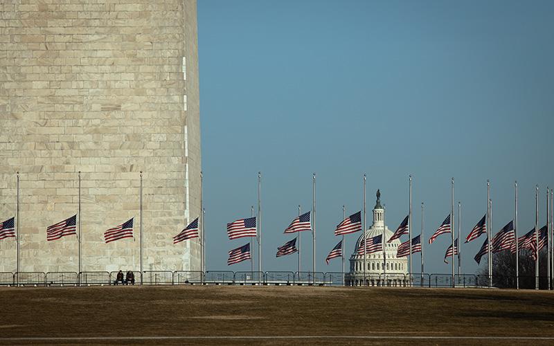 The U.S. Capitol is seen in Washington Feb. 8, 2021.