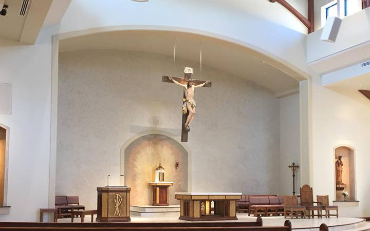 Inside the new St. Pius Church March 19. (Courier photo by Gina Capellazzi)