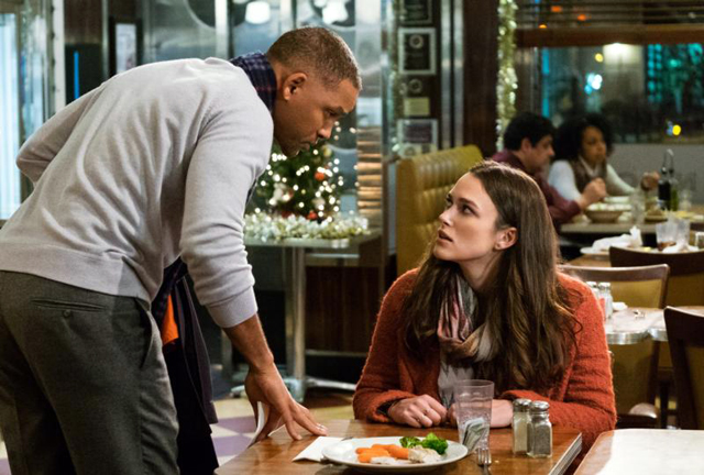 "Will Smith and Keira Knightley star in a scene from the movie ""Collateral Beauty."" The Catholic News Service classification is A-III -- adults. The Motion Picture Association of America rating is PG-13 -- parents strongly cautioned. Some material may be inappropriate for children under 13."