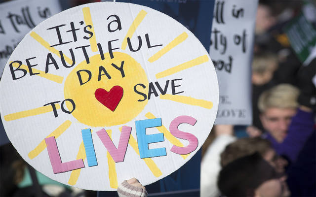 <p>A pro-life sign is displayed during the 2018 March for Life rally in Washington, D.C. &ldquo;Unique From Day One: Pro-Life Is Pro-Science&rdquo; is the theme of the 2019 march, which will take place Jan. 18. (CNS photo by Tyler Orsburn)  </p>
