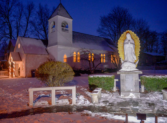 <p>A new statue of Our Lady of Guadalupe was dedicated at Mission of Our Lady of Guadalupe in Marion Dec. 12.  </p>
