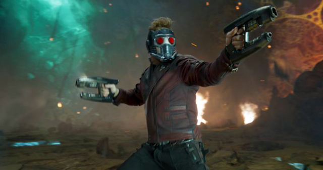 """Chris Pratt stars in a scene from the movie """"Guardians Of The Galaxy Vol. 2."""""""
