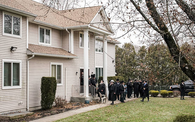 <p>People gather at Rabbi Chaim Rottenberg&rsquo;s residence in Monsey, N.Y., Dec. 29. A machete-wielding man attacked the residence during a Hanukkah celebration the night before. (CNS photo by Jeenah Moon/Reuters)  </p>