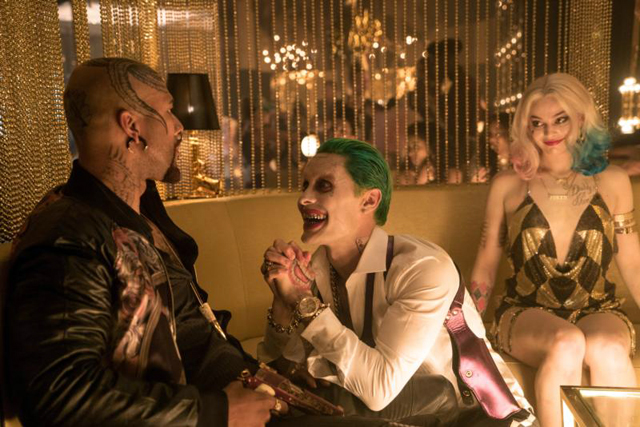 "Jared Leo and Margot Robbie star in a scene from the movie ""Suicide Squad."" The Catholic News Service classification is L -- limited adult audience, films whose problematic content many adults would find troubling. The Motion Picture Association of America rating is PG-13 -- parents strongly cautioned. Some material may be inappropriate for children under 13."