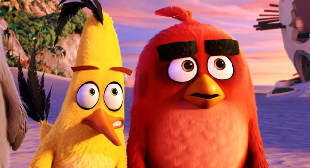 """Chuck, voiced by Josh Gad, and Red, voiced by Jason Sudeikis, appear in the animated movie """"The Angry Birds Movie."""" The Catholic News Service classification is A-II -- adults and adolescents. The Motion Picture Association of America rating is PG -- parental guidance suggested. Some material may not be suitable for children."""
