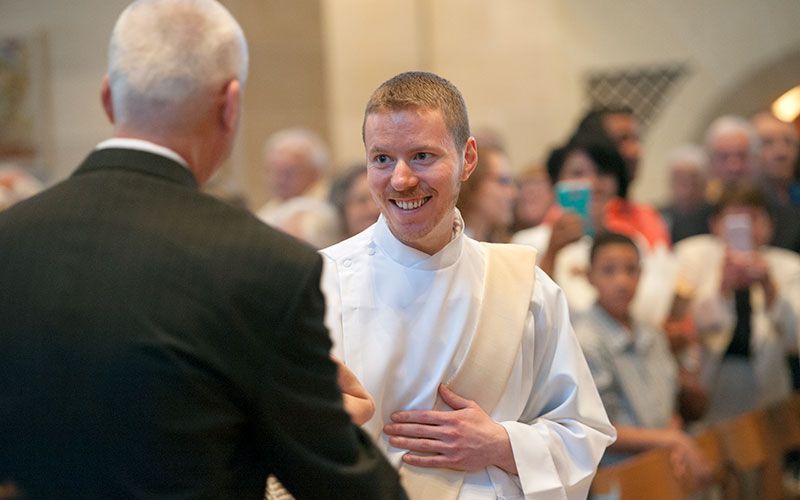 Father Justin Miller is seen the day of his priestly ordination, June 4 2016.
