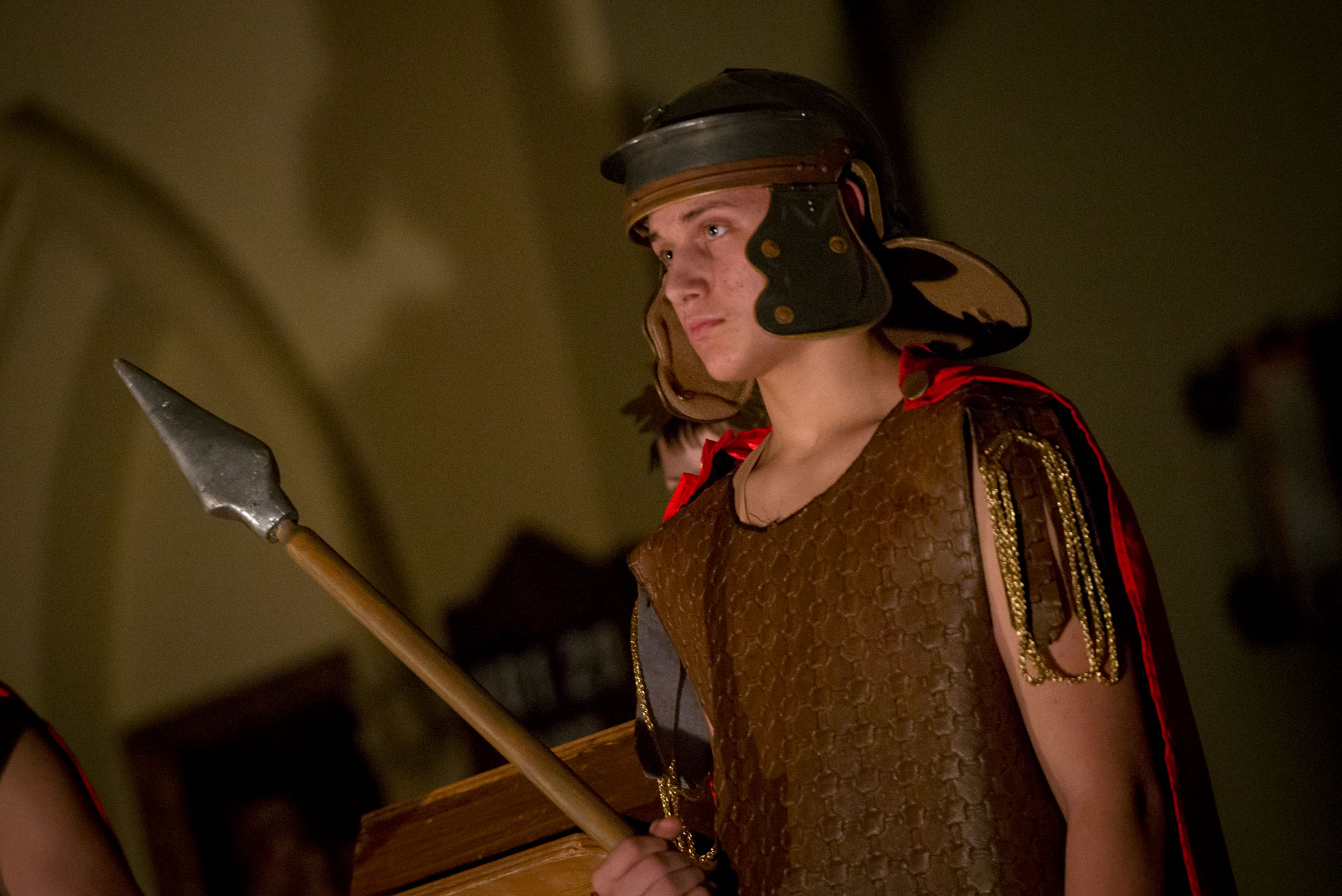 Teen depicts a Roman soldier.