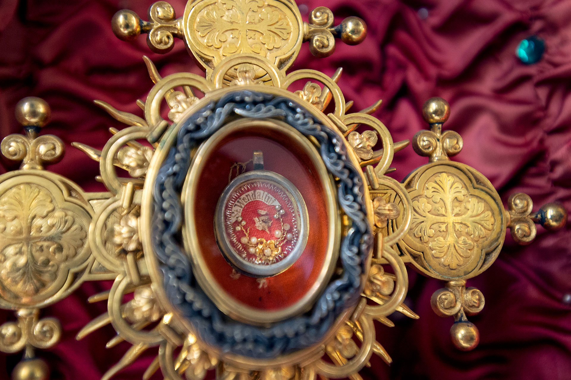 A German film crew visited the hamlet of Perkinsville in March to document the relic of St. Wendelin that is housed at Sacred Heart Church.