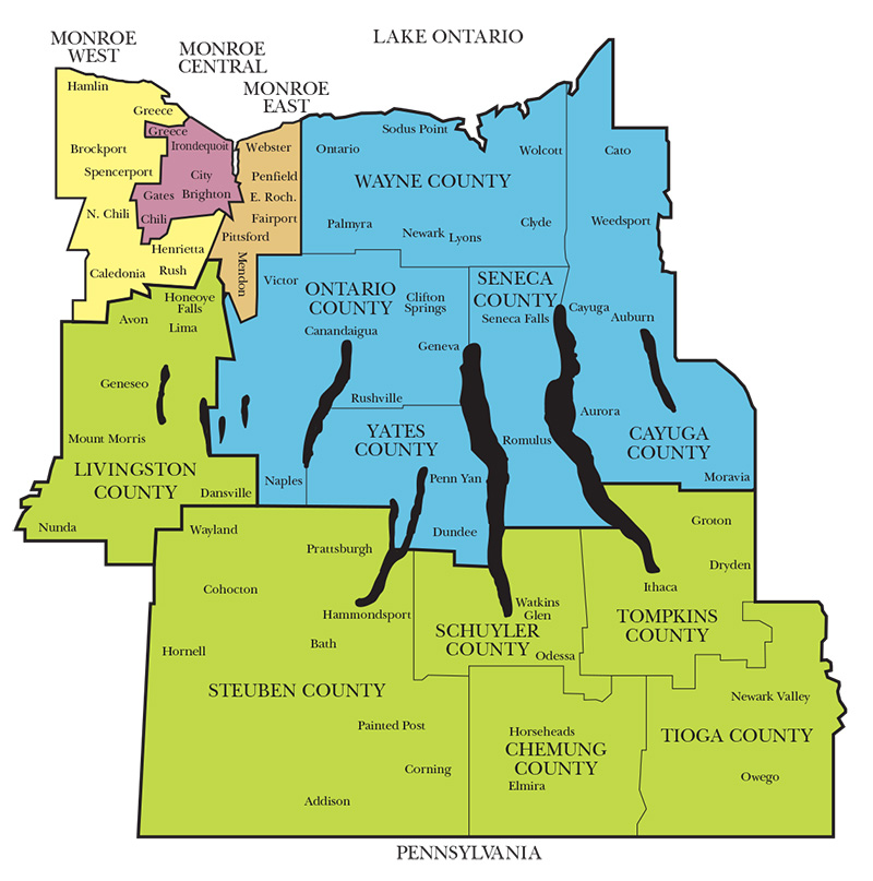 Diocese of Rochester map