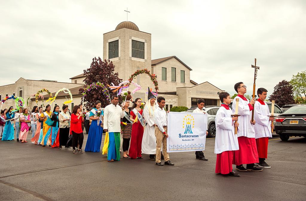 The Filipino Santacruzan procession of the rosary at St. Jude the Apostle Church in Gates May 21.