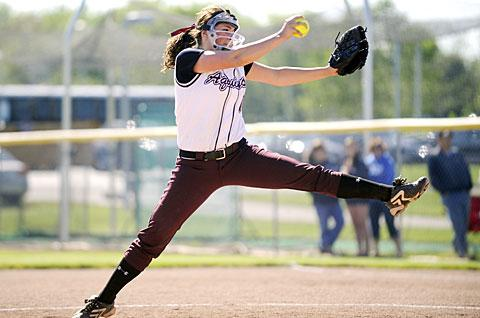 Lexi Haley pitched six shutout innings and struck out eight.