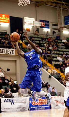 Antwoine Anderson goes up for a shot.