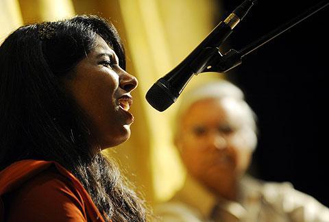 Veena Ganeshan sings a Hindu Bhajan, a devotional song.