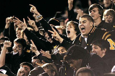 McQuaid students cheer their team.