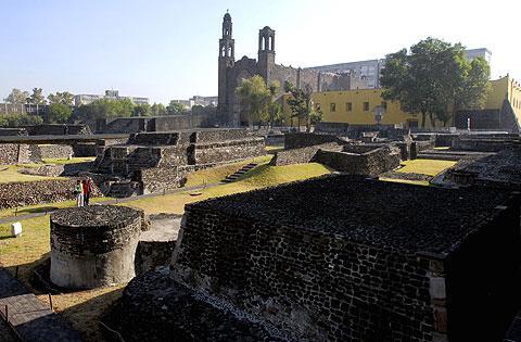 The Plaza de las Tres Culturas in Mexico City.