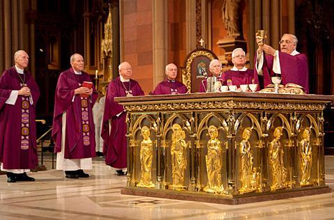 Bishop Nicholas DiMarzio leads the Liturgy of the Eucharist.