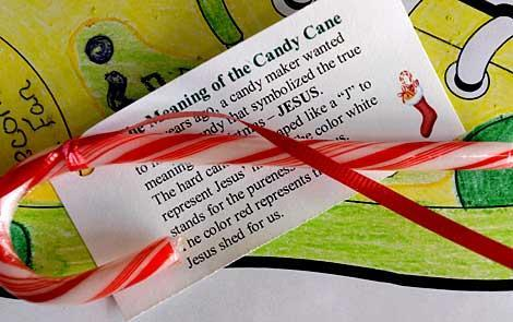 Jesus is the candy cane's lesson
