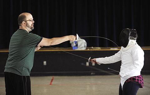 Instructor Colin Clinton shows proper technique.