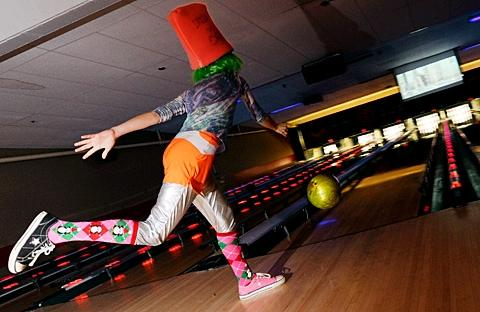 Bridget Flaherty lets a ball fly Feb. 3 at Empire Lanes.