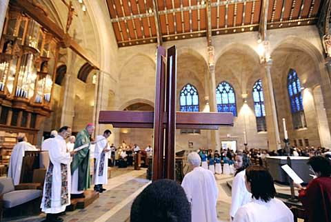 Sacred Heart Cathedral was packed for the Oct. 17 Mass.