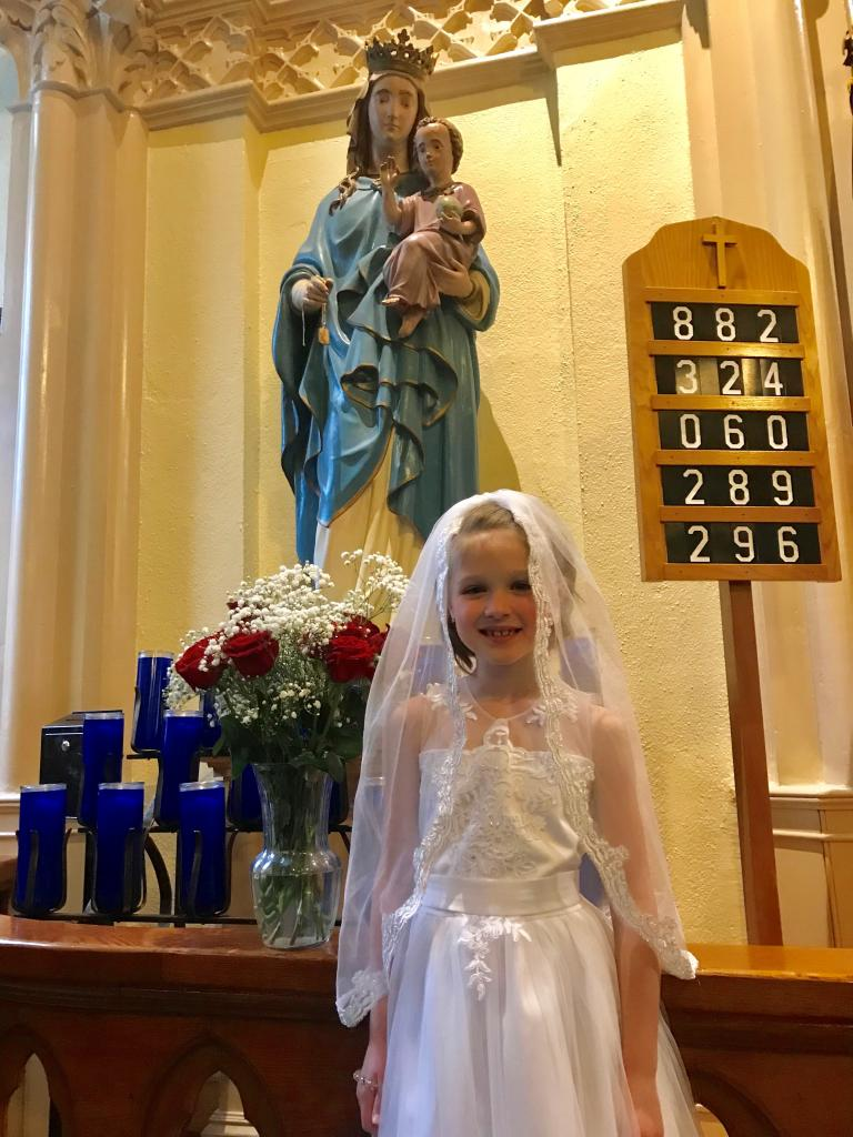 Elizabeth, 7, St. Isidore and Maria Torribia Parish in Steuben County.<br />Elizabeth received her First Holy Communion at St. Catherine of Siena in Addison. (Submitted by mom, Margaret)