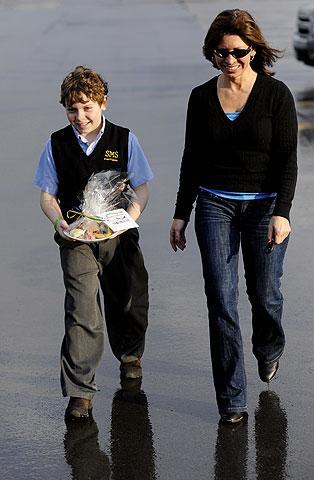Carter Coston delivers cookies to Wegmans.