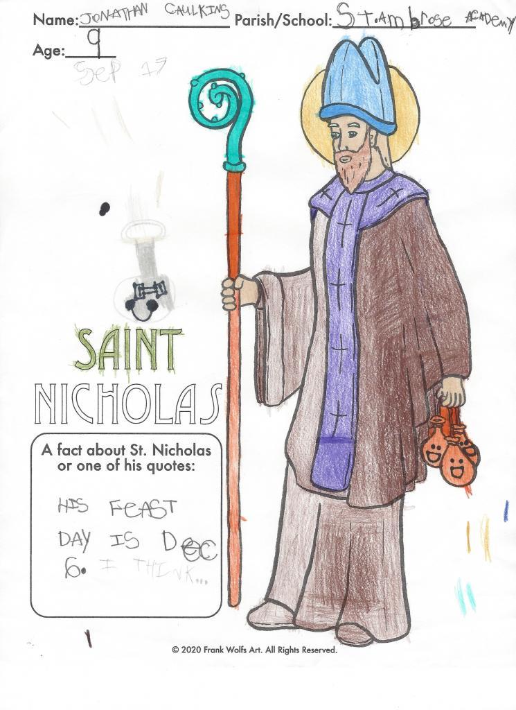Jonathan, 9, St. Ambrose Academy, Rochester