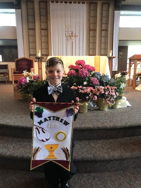 Matthew received his First Holy Communion at Our Lady Queen of Peace Parish. (Submitted by his parents, Anne and Chris)
