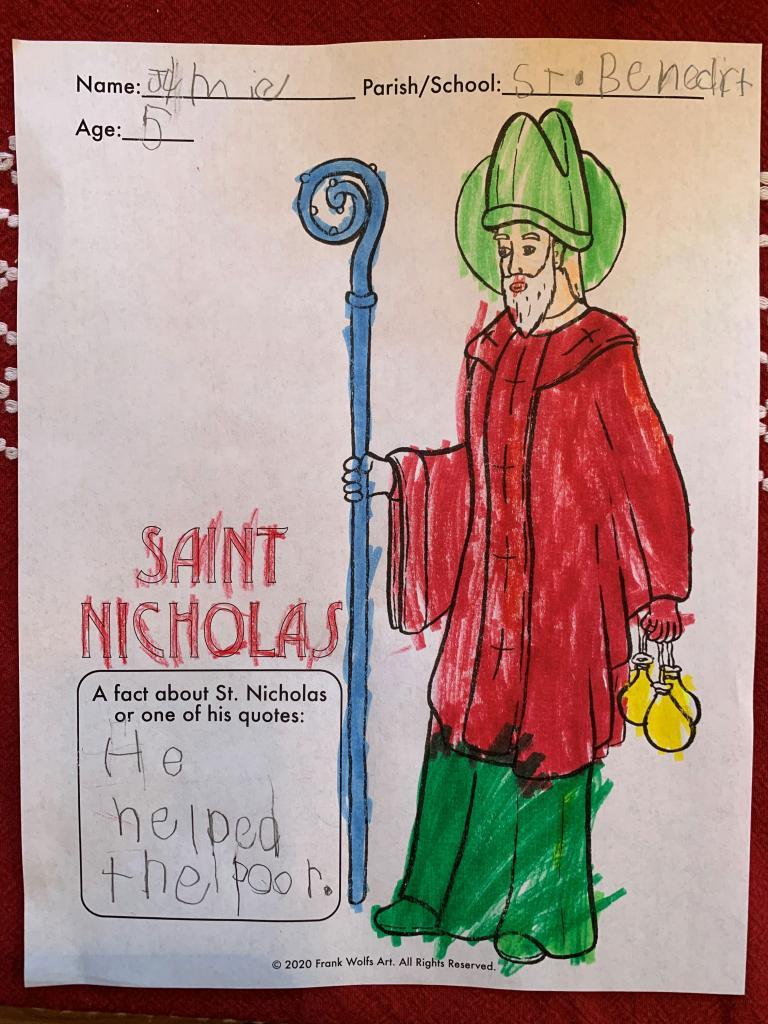 Jamie, 5, St. Benedict Parish, Canandaigua/Bloomfield