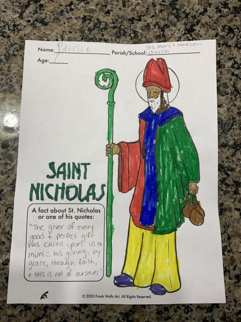 Patrick, 7, Sts. Mary and Matthew Faith Community, Livonia/Honeoye