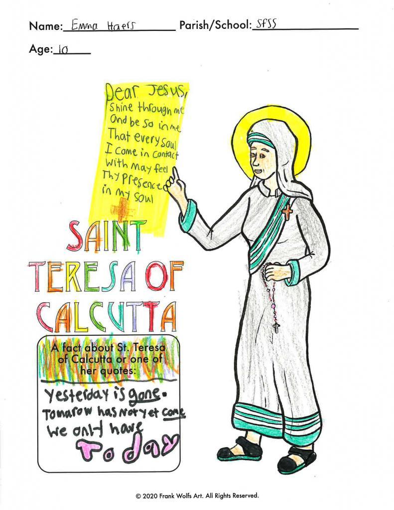 Emma, 10, St. Francis-St. Stephen School, Geneva