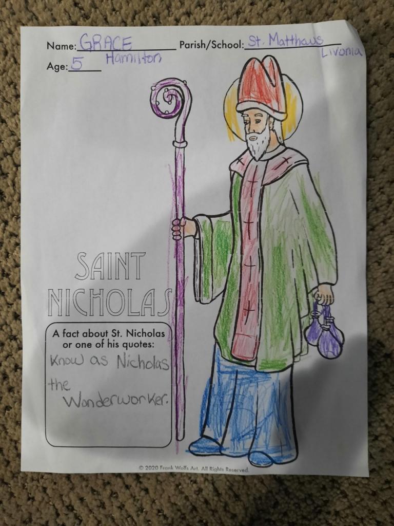 Grace, 5, Sts. Mary and Matthew Faith Community, Livonia/Honeoye