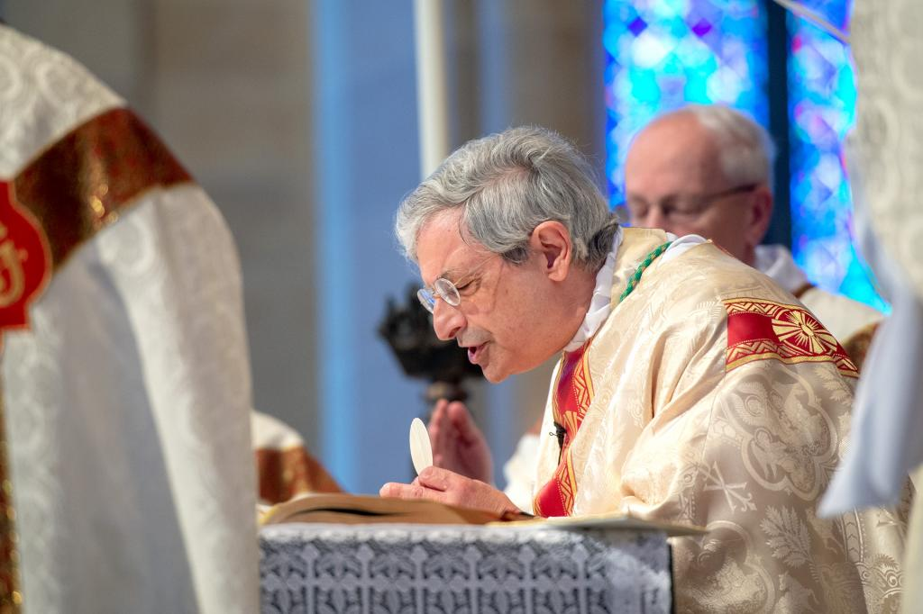 Bishop Matano celebrates the liturgy.