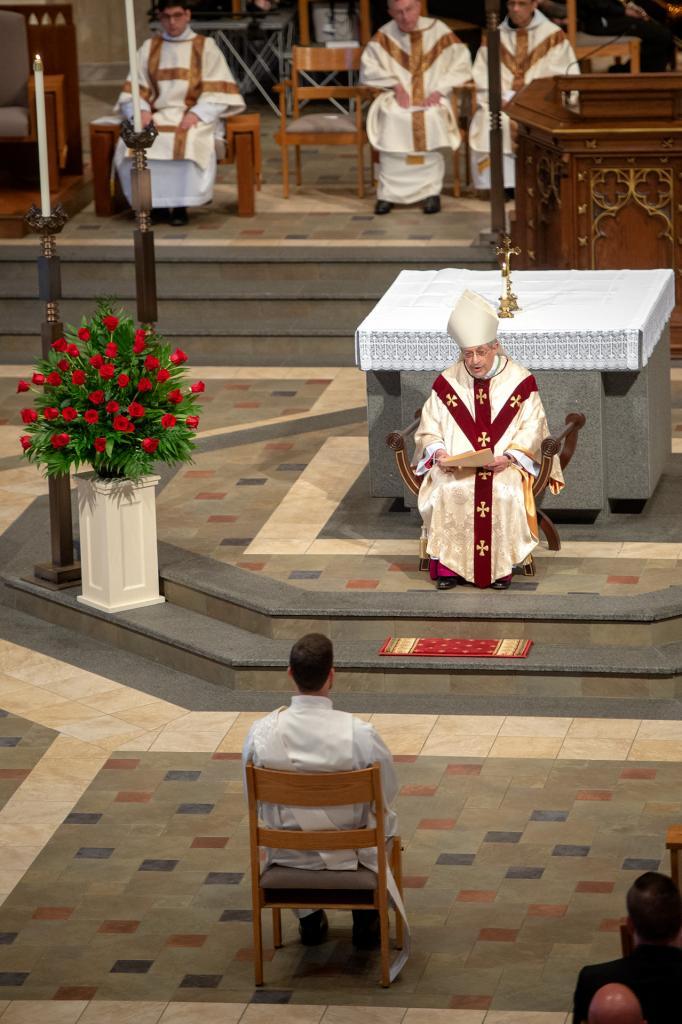Bishop Matano gives the homily.