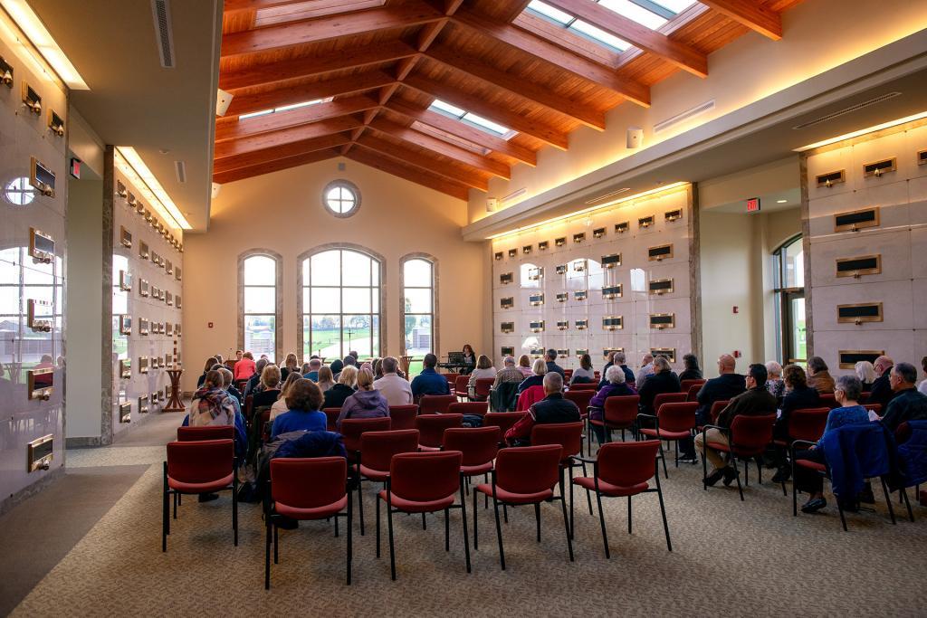 Mass is celebrated at Henrietta's Ascension Garden mausoleum Nov. 2.