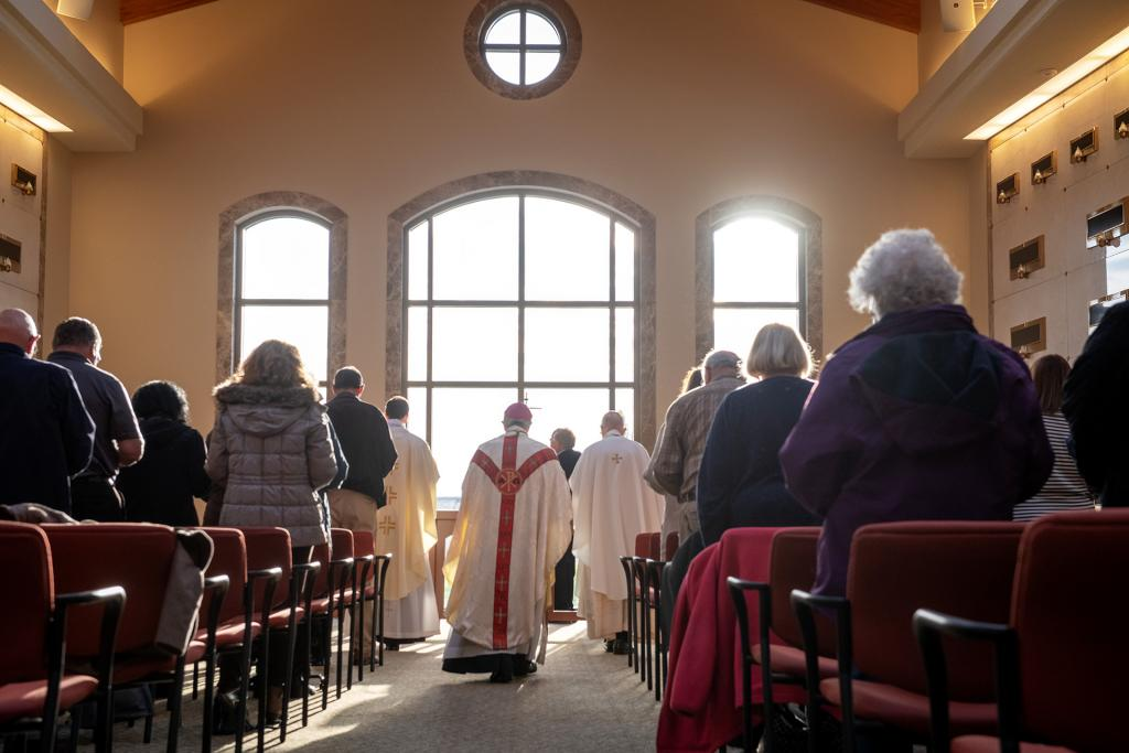 Bishop Salvatore R. Matano processes into Mass.