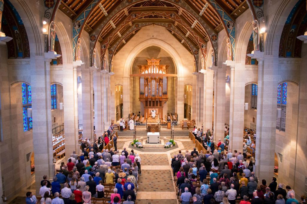 Bishop Matano celebrates the annual Wedding Jubilee Mass.