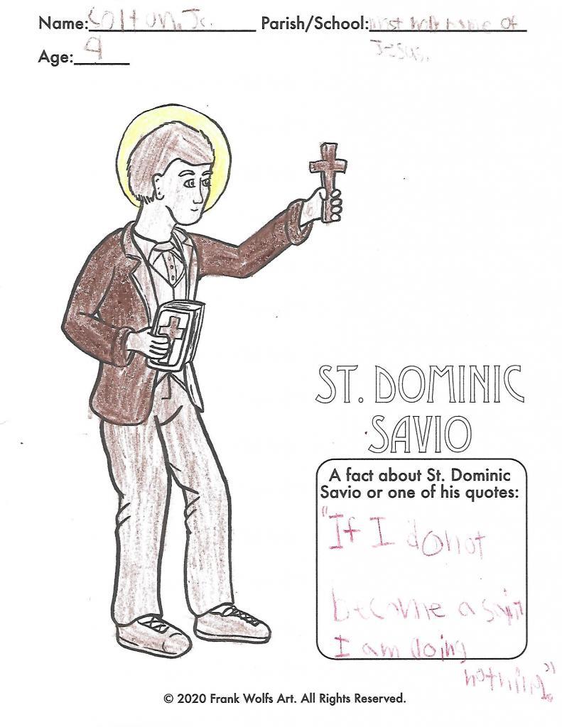 Colton, 9, Most Holy Name of Jesus Parish, Elmira